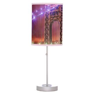 A windy and rainy evening view from Fort Lee Table Lamps