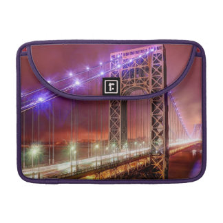 A windy and rainy evening view from Fort Lee Sleeves For MacBook Pro