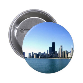 A Windy City Across the Lake 2 Inch Round Button