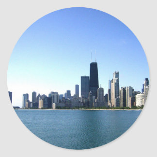 A Windy City Across the Lake Classic Round Sticker