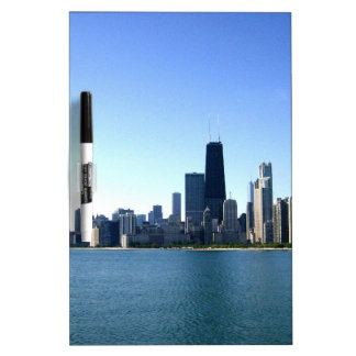 A Windy City Across the Lake Dry Erase Whiteboards