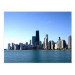 A Windy City Across the Lake Postcard