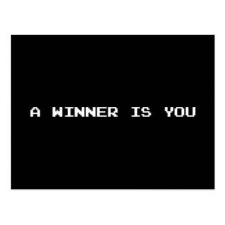 A WINNER IS YOU POSTCARD