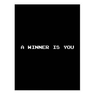 A WINNER IS YOU POSTCARD