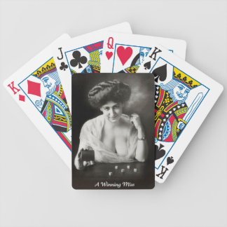 A Winning Miss 1911 Bicycle Playing Cards