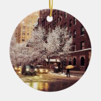 A Winter Crossing Ceramic Ornament