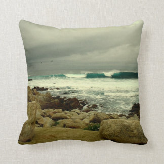 A Winter Day At The Beach Pillow