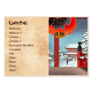 A Winter Day at the Temple Asakusa  Tsuchiya Koits Large Business Cards (Pack Of 100)