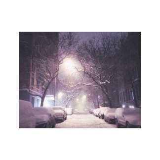 A Winter Glow On The Upper West Side Canvas Print