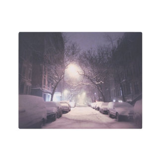 A Winter Glow On The Upper West Side Metal Photo Print
