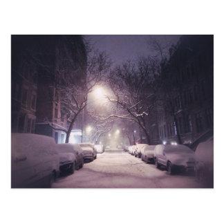 A Winter Glow On The Upper West Side Postcard