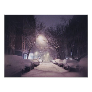 A Winter Glow On The Upper West Side Poster