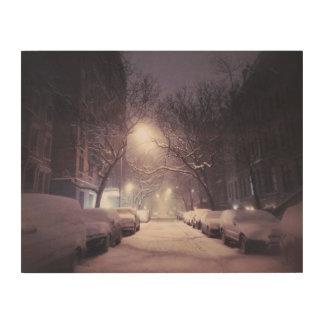 A Winter Glow On The Upper West Side Wood Wall Art
