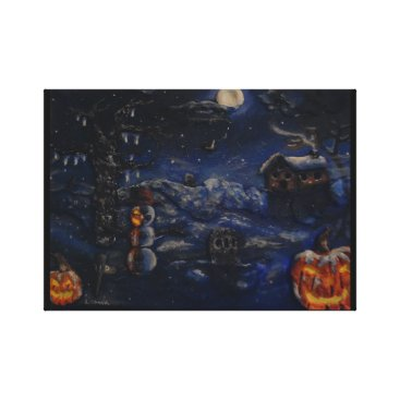 "Halloween Themed ""A Winter Halloween"" Canvas Print"