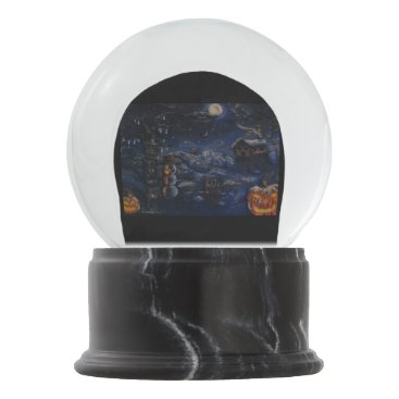 "Halloween Themed ""A Winter Halloween"" Painting Snow Globe"