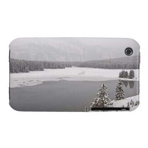 A winter mountain scene n Banff National Park iPhone 3 Cover