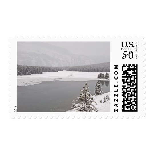 A winter mountain scene n Banff National Park Postage