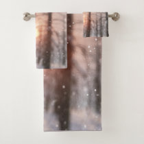 A Winter Night's Dream Bath Towel Set