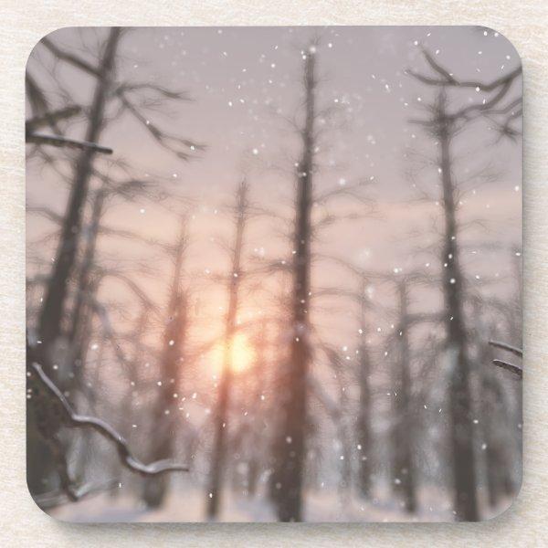 A Winter Night's Dream Cork Coasters