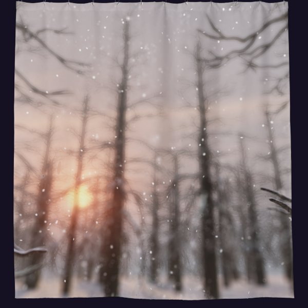 A Winter Night's Dream Shower Curtain