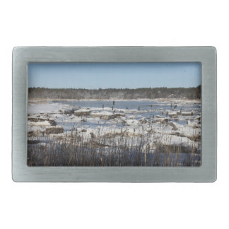 A Winter On The Weweantic River Belt Buckle