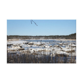 A Winter On The Weweantic River Canvas Print
