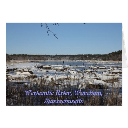 A Winter On The Weweantic River Greeting Card
