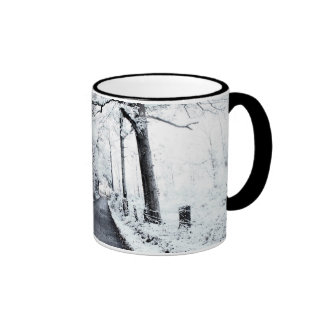 A Winter Road - Lincoln County, Mississippi Ringer Coffee Mug