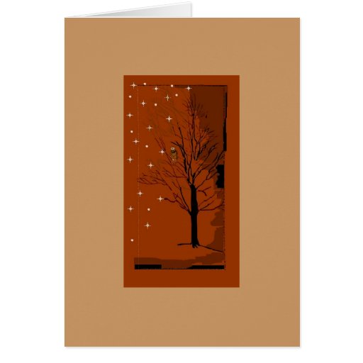 A Winter Scene Stationery Note Card