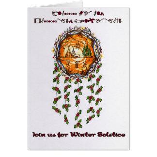 A  Winter Solstice Mandella Card