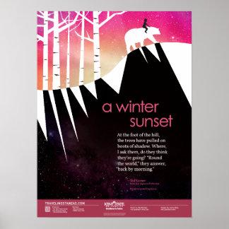 A Winter Sunset Poster