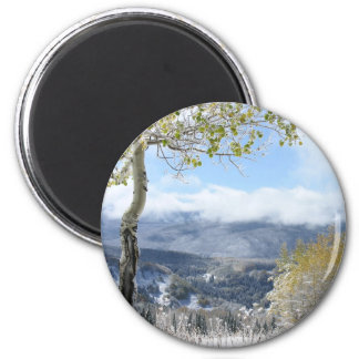 A Winter View 2 Inch Round Magnet