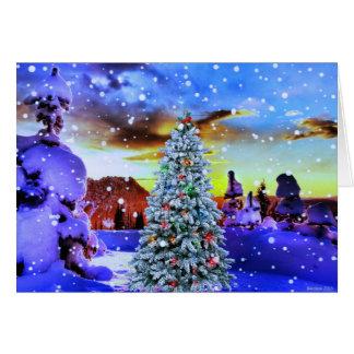 A winter wonderland card