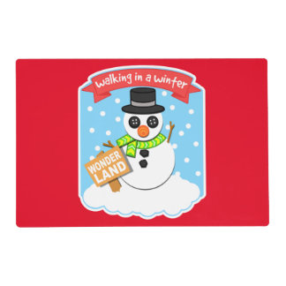A Winter Wonderland II Red Placemat