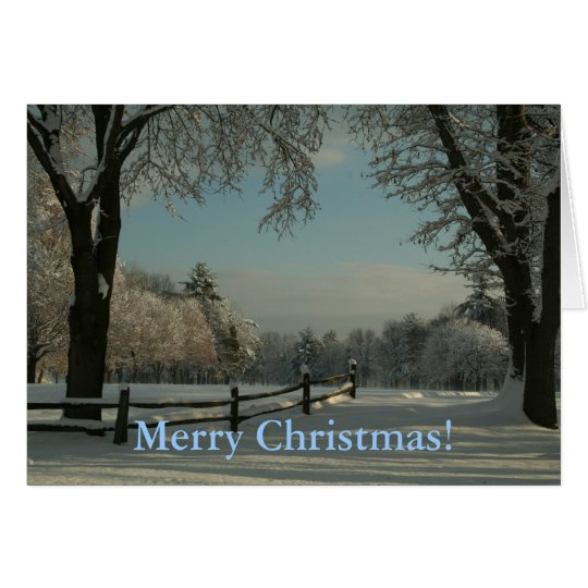 A winter wonderland, Merry Christmas! Card