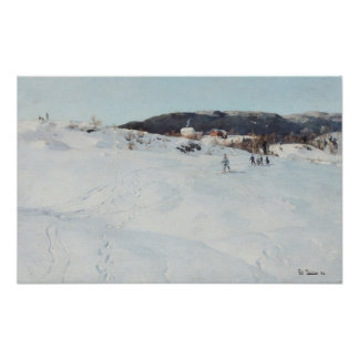 A Winter's Day in Norway, 1886 Poster
