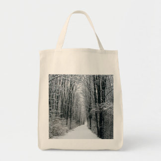 A Winters Path Grocery Tote Bag