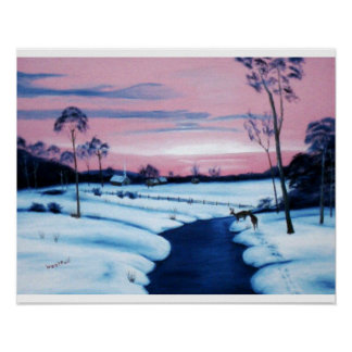 A Winter's Sunset Poster