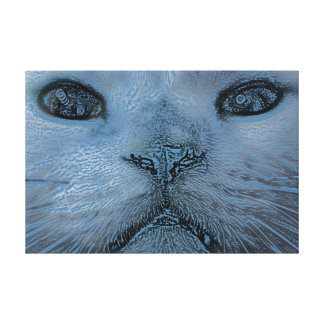 A Wintery Feline 36 x 24 Stretched Canvas Print