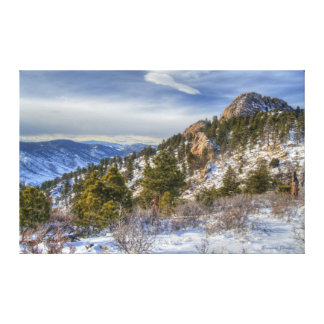 A Wintery Horsetooth Mountain Morning Canvas Print