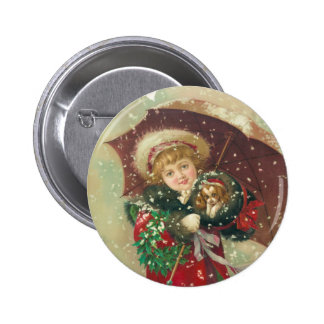A Wintry Day by Gray Lithograph Company Button