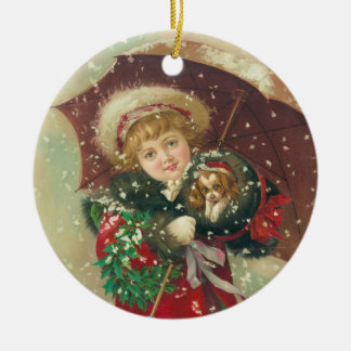 A Wintry Day by Gray Lithograph Company Ceramic Ornament