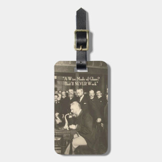 A Wire Made of Glass Humorous Tech Tag For Luggage