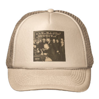 A Wire Made of Glass Humorous Tech Trucker Hat