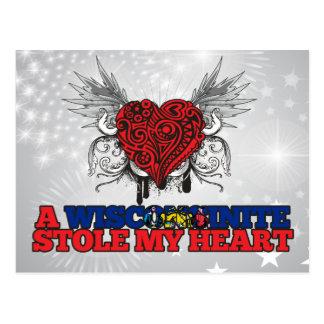 A Wisconsinite Stole my Heart Postcard
