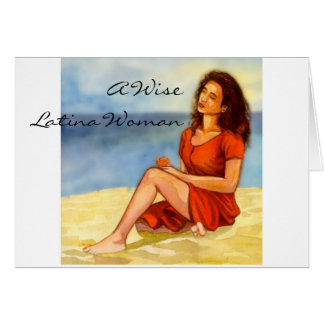 A Wise Latina Woman Cards