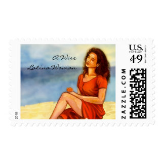 A Wise Latina Woman Stamp