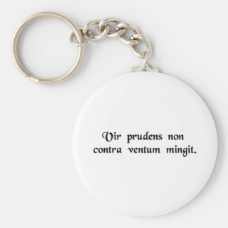 A wise man does not urinate against the wind. keychains