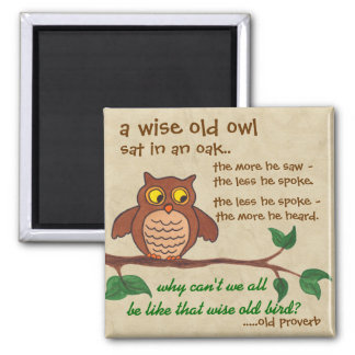 A Wise Old Owl - Fridge Magnet Fridge Magnets