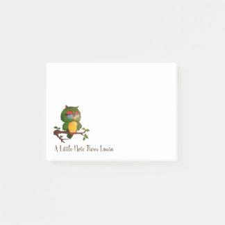 A Wise Old Owl Sitting On A Tree Branch Post-it Notes